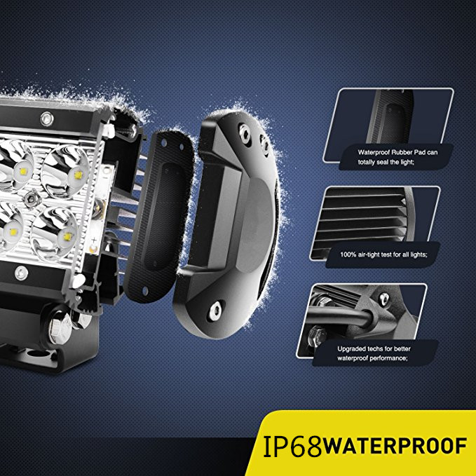 18w 2row led light bar切诺基xj evo x evo x